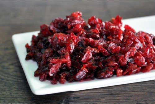 Cranberries met fruitsap